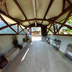 炊事棟@飛雪の滝キャンプ場 #theta360