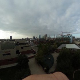 Columbus skyline from CSCC #theta360