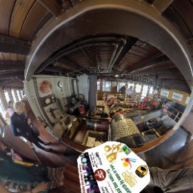 360 spherical Historical tour on the Paddle Steamer Decoy boat from Mends Street jetty South Perth https://linkfox.io/AvM1Z #theta360