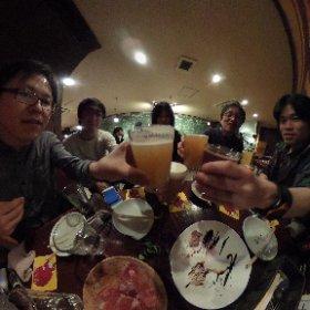 #bpcamp ビール部の会合、5人そろった。箕面ビールで乾杯!