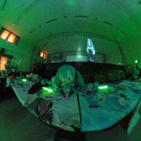 #ミクロジ でのライブ風景になります。ファンメイドライブでも大盛況です! #miku360  #theta360