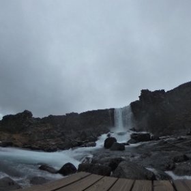 Oxararfoss Waterfall, Thingvellir National Park, Iceland taken on 22/10/2018 #theta360 #theta360uk