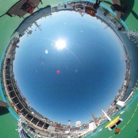 ウラジオストク-境港 フェリーデッキその2 #theta360