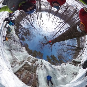 360 View Preparing to Ice Climb Rumney Rocks