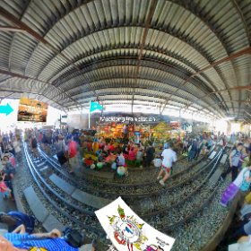 Maeklong train markets or talad rom hub or Siang Tai, all activities at https://goo.gl/qveMHV Hashtags: #MaeklongRailwayMarkets   #FleaMarkets  #SamutSongkhram  #TravelLocalThai #butterfly3d #firefly3d