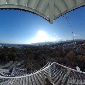 小田原城から石垣山城方面をシータ #小田原城 #theta360