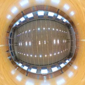 第2体育館です。バレーボールコートを3面取ることができます。