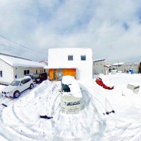 雪かきを細かくした結果今日は割とまし! #雪かき #米子 #ピークは過ぎた #theta360