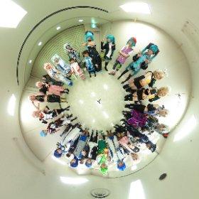 ボーマスにて ボーカロイドコスの皆様で集合写真  皆様のご協力ありがとうございました! #miku360 #ボーマス38 #theta360