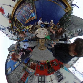 Meeting friends in Galway #rain3d #theta360 #theta360uk
