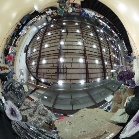 Another view from Gary Peavy's display at central Illinois gem and mineral show today.  #theta360