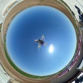 Bodega Cuatro Rayas desde el aire #theta360