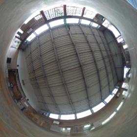 平成26年10月3日 解体前の旧豊間中学校体育館の中で撮影した全天球写真です