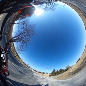 winter ride #theta360