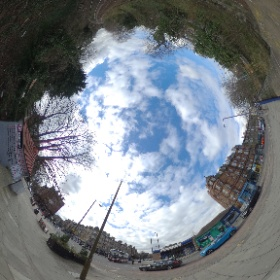 360º view of Morningside Station area. #theta360 on top of vertical selfie stick for this shot.