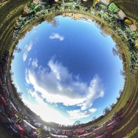 Doddie Weir tractor parade. Over 200 Tractors from surrounding farms took part in support of MND trust, seen here at Thirlestane Catle Lauder #robgrayphoto #thirlestanecastle #theta360 #theta360uk