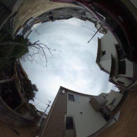 松山市の賃貸一戸建て、ラフィネ西長戸の敷地南側 庭