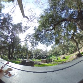 At Oak Park in Santa Barbara. Getting ready to leave.  Beautiful day! #theta360