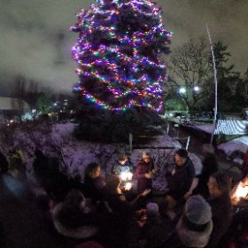 Carols in Cabbagetown on Christmas Eve. #theta360