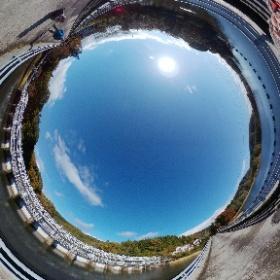 猪苗代湖から、安曇疎水十六橋水門前でウルトラマンシータ! #レンズ沼  #theta360