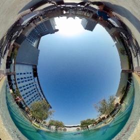 aloft Abu Dhabi, pool deck in 360° #inAbuDhabi #theta360