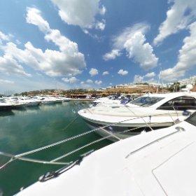360 PHOTO: Yachts moored at Puerto Portals, Majorca, Spain, August 21, 2018. #theta360 #theta360uk