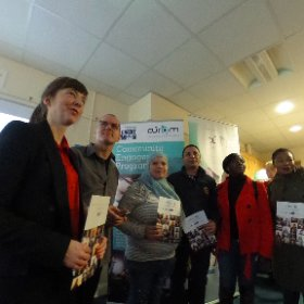 Launching 'AfterImage' @ Westside Ressourse Centre, Galway with particupants from CURAM and Westsude Community