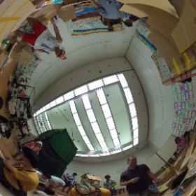 20150919セシオン杉並にてワークショップ ダンボールの家を つくって つなげて あそんで こわれたら なおしながら またあそぼう 開始頃 #theta360