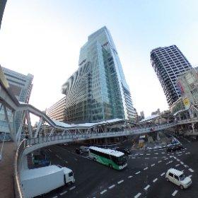 あべのハルカス前の歩道橋 #theta360