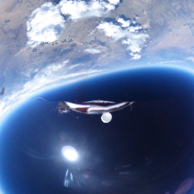 a drone in the stratosphere