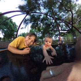 Kaleb, Tyler, Patricia & I at the park. #theta360