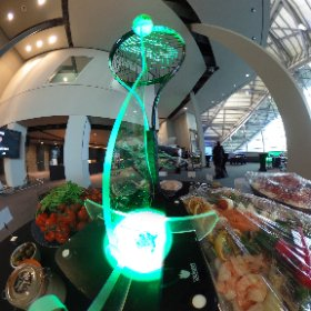 Up close and personal with one of Blue Parrot Companies custom table art pieces for Andy Murray Live at Glasgows SECC Clyde Auditorium before the main show at SSE Hydro   #BlueParrot #AndyMurrayLive #TableArt  #theta360 #theta360uk