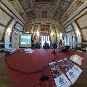 Presentazione #WikiLovesMonuments a #Genova #PalazzoTursi #OpenGenoca #theta360it