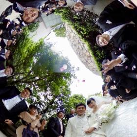 千佳ちゃん結婚式フラワーシャワーでシータθ^_^θ #theta360