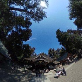 香取神宮拝殿前シータ  #theta360
