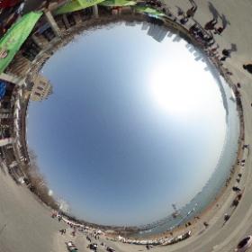 大連星海公園の砂浜なう。 #theta360