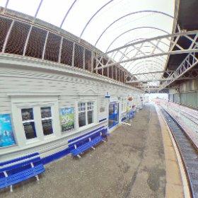 Stranraer Station. the end of the line #tinyplanet  #theta360 #theta360uk