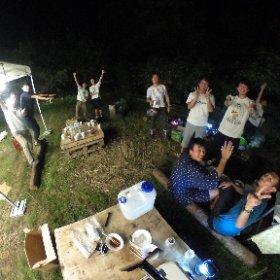 仙台学生×どやばい村 キャンプ #theta360