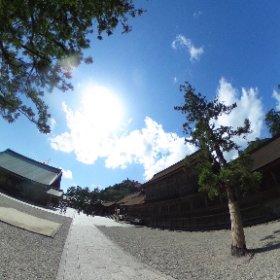 出雲大社 東十九社近辺 VRでバイク旅 日本一周【49日目】http://www.merkurlicht.com #theta360