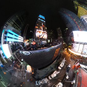 New Year's Eve 2016 from Times Square, NYC. #theta360