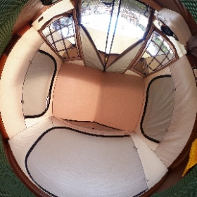 オガワのオーナーロッジType52R  内部はこんな感じです ランドロックのインナーよりほんの少し小さいくらい 家族5人、全然余裕で寝れました! #theta360