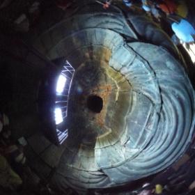 鎌倉の大仏、の中 #theta360