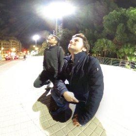 Admiring the majesty of Sagrada Familia #BarcellonaByNight #theta360 #theta360it