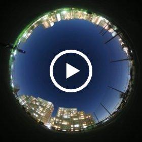 The International Space Station has passed the Yokohama sky. in Yokohama,Japan