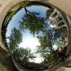 Dayton Inventors River Walk a cool reflective stop #theta360