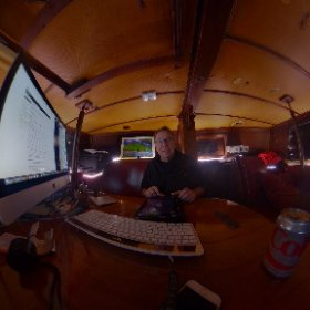 First test of the new 4K 360 camera in low light on the boat, wow