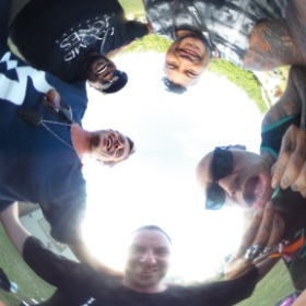 Hanging with the Shapeshifter (NZ) boys after the set with us on the visuals #shapeshifter #loomis&jones #vj #theta360
