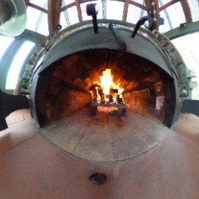 Hmmmm. Pizza oven lit, dough made, toppings ready, wine open. Lunch soon. #theta360