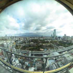 先日撮影した通天閣展望デッキからの眺め #theta360