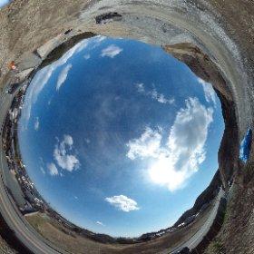平成27年2月27日 豊間の南側高台宅地予定地で撮影した全天球写真です